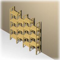 Kleines Bücherregal unter 20 cm tief zum Hinstellen, Idee Kulmbach