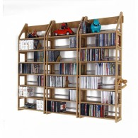Regal Jennifer für 750 CDs, DVDs, Taschenbücher