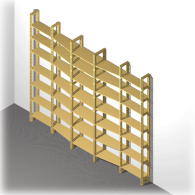 Bücherregal | Wechseltiefe 240 mm auf 170 mm