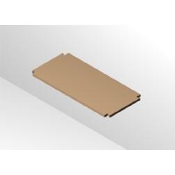 Regalboden 17 cm tief 413 mm breit ohne Träger für 64 mm Rastsystem