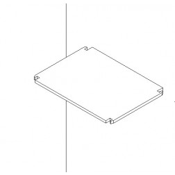 Regalboden 30 cm tief für Ordnerregal 455 mm