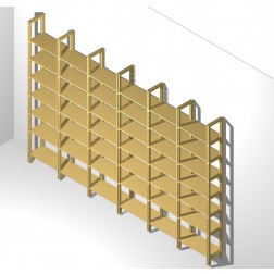 Zwei Meter hohes Bücherregal 24 cm tief