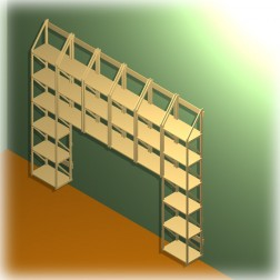 Wandregal für Bücher zum Umbauen anderer Möbel
