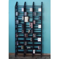 Das Regalsystem für CDs, DVDs und Bücher auch in schwarz