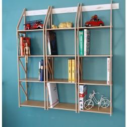 Bücherregale in Birke-Multiplex