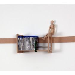 Kleines Blu-Ray Regal mit geraden Seiten