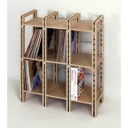 Kleines Schallplattenregal für ca. 250 Langspielplatten