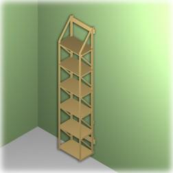 Bücherregal hoch und schmal hängendes Wandregal