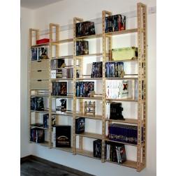 Medienregal für gemischte Aufbewahrung von CDs,DVDs, Bücher und vieles mehr.