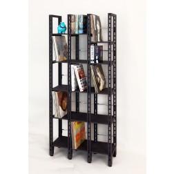Schallplattenregal mit 13 Fächer aus schwarz durchgefärbtem MDF