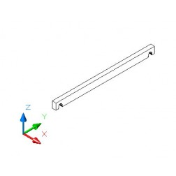 Regalboden Träger 33 cm tief - MDF