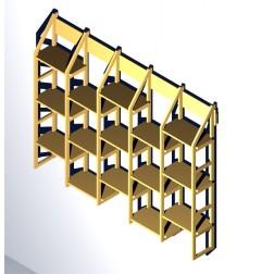 Bücherwandregal mit mit möglichkeit nach Maß