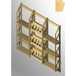 Weinregal  für 75 Weinflaschen mit Präsentationsfächern