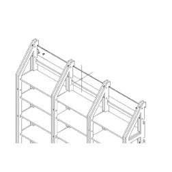 Wandbefestigungsleiste für concept-8 zwei Spalten
