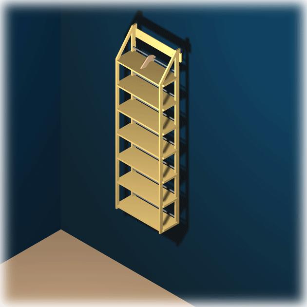 blu ray regal f r ca 180 medien als wandregal von regaflex ebay. Black Bedroom Furniture Sets. Home Design Ideas