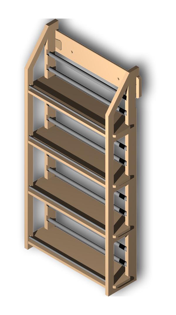 gew rzregal mit vier b den speziell f r 16 apothekengl ser ebay. Black Bedroom Furniture Sets. Home Design Ideas