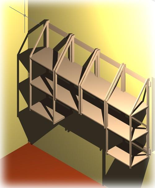 ordner regal f r ca 50 din a4 ordner 45 5 cm breit wandregal ebay. Black Bedroom Furniture Sets. Home Design Ideas