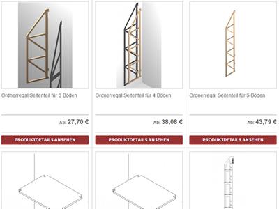 ausgesuchte fallbeispiele f r regaflex regale nach ma. Black Bedroom Furniture Sets. Home Design Ideas