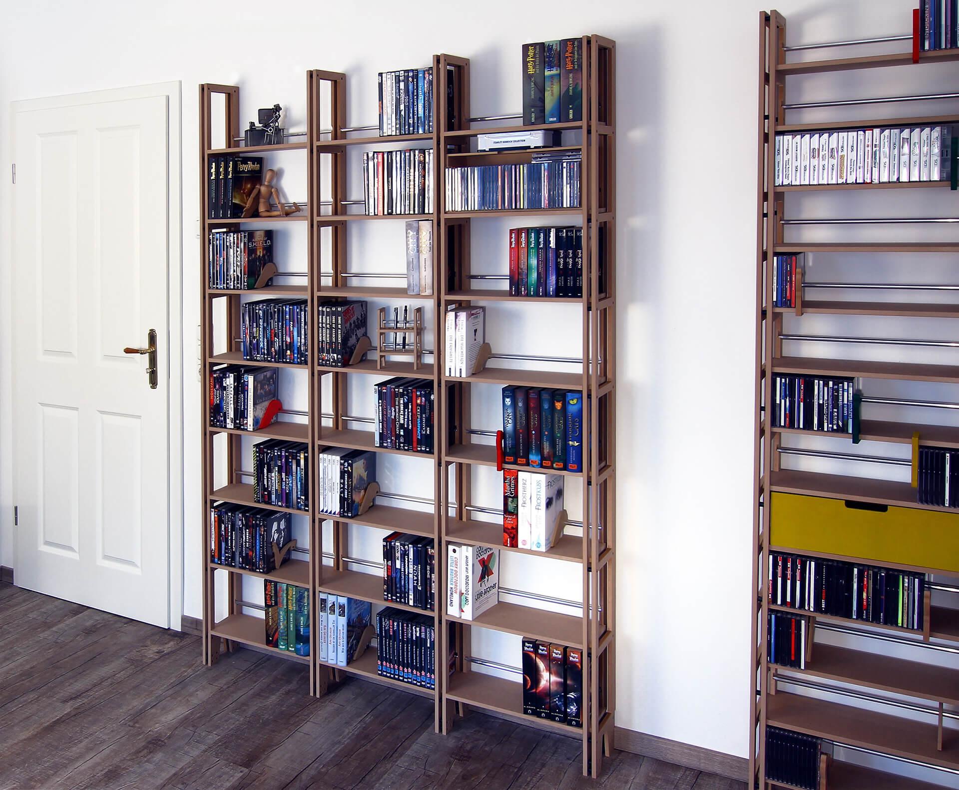 dvd regale und regalsysteme f r ihre dvd sammlung. Black Bedroom Furniture Sets. Home Design Ideas