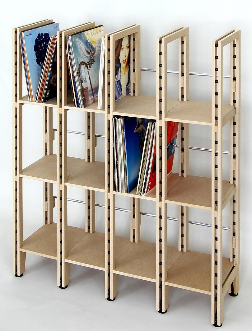 schallplattenregal lp regale regalsysteme von regaflex. Black Bedroom Furniture Sets. Home Design Ideas