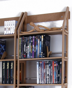 dvd regal f r 260 dvds aus holz hier als wandregal von regaflex ebay. Black Bedroom Furniture Sets. Home Design Ideas