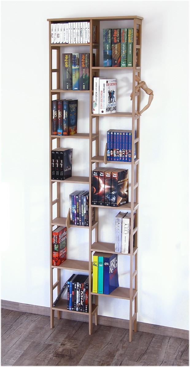 b cherregal schmal unter 60 cm und ca 200 cm hoch modell limbach ebay. Black Bedroom Furniture Sets. Home Design Ideas