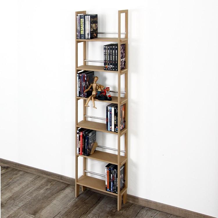 dvd regal f r 150 dvds ohne wandbefestigung und auch f r b cher verwendbar ebay. Black Bedroom Furniture Sets. Home Design Ideas