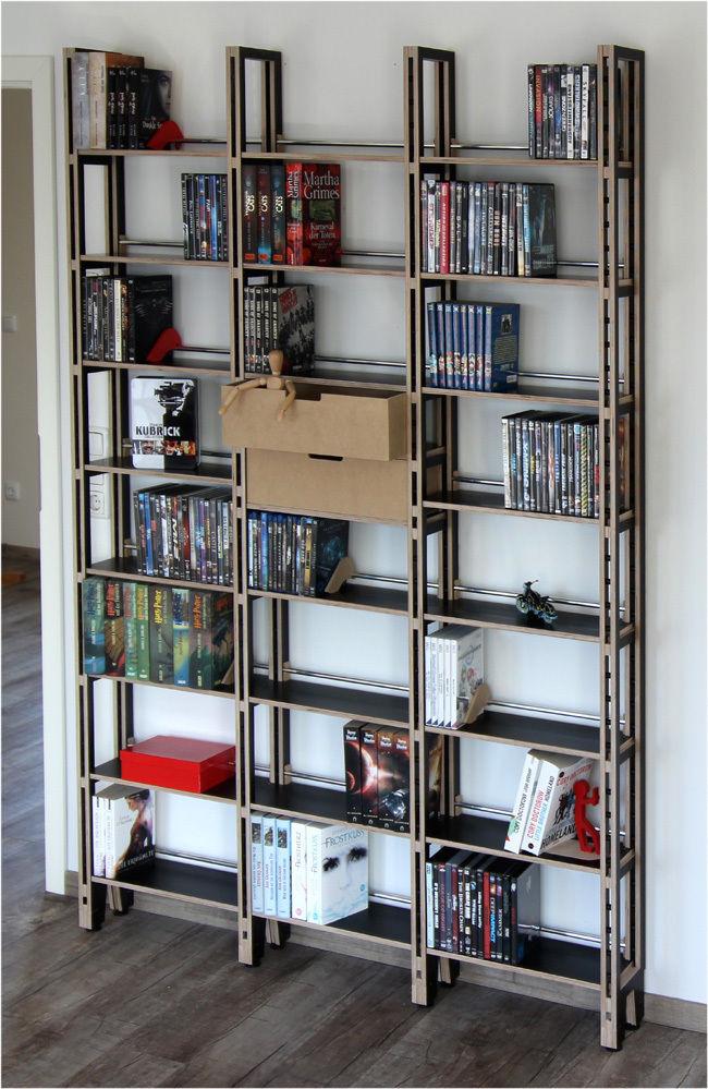 dvd regal aus mdf holz f r ber1200 dvd von regaflex ebay. Black Bedroom Furniture Sets. Home Design Ideas
