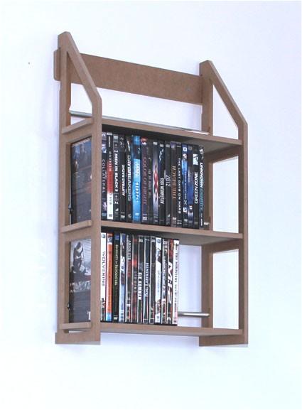 regal f r 78 dvd zum an die wand h ngen von regaflex ebay. Black Bedroom Furniture Sets. Home Design Ideas